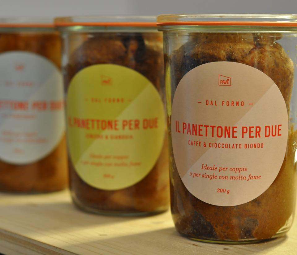 panettone in glass